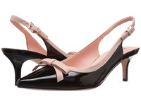 Kate Spade Palina Too Black Patent Pale Pink Nappa Women's Shoes