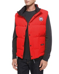 Canada Goose Freestyle Down Puffer Vest Red