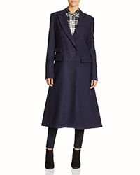 Dkny Flared Wool Coat Perfect Navy