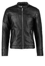 Jack And Jones Jcosmith Faux Leather Jacket Black