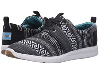 Toms Del Rey Sneaker Black White Cultural Woven Women's Lace Up Casual Shoes Gray