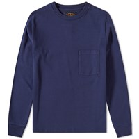 Beams Plus Long Sleeve Pocket Tee Blue
