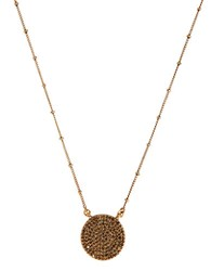Lucky Brand Gold Rock Crystal Pendant Necklace