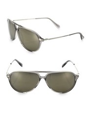 Oliver Peoples Braedon 60Mm Mineral Glass Aviator Sunglasses Grey