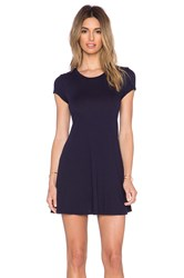 Bobi Light Weight Jersey Tee Dress Navy