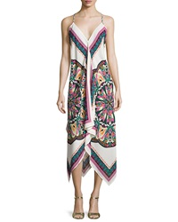 Romeo And Juliet Couture Multipattern Racerback Sundress White Pink Multicolor