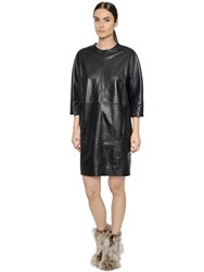 Maison Martin Margiela Paneled Nappa Leather Dress