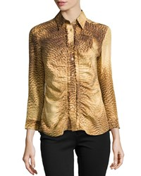 Escada 3 4 Sleeve Printed Blouse Women's
