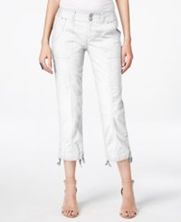Inc International Concepts Curvy Fit Cargo Capri Pants Only At Macy's White