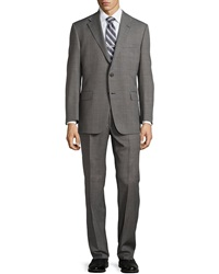 Hickey Freeman Worsted Wool Suit Charcoal
