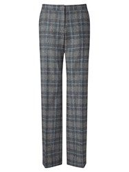 Jigsaw Check Parallel Trousers Grey Melange