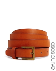 Asos Curve Vintage Look Waist And Hip Belt Tan