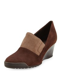Sesto Meucci Daelyn Suede Wedge Pump T Moro Taupe