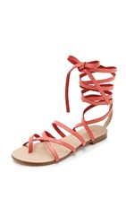 Splendid Carly Lace Up Sandals Coral