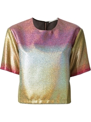 Marco De Vincenzo Holographic Top Multicolour