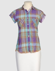Arnold Zimberg Short Sleeve Shirts Purple