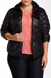 Bcbgeneration Short Packable Puffer Coat Plus Size Black