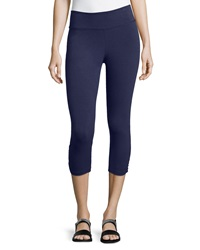 Blue Canoe Shirred Hem Cropped Leggings Navy