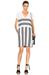 Lemlem Freya Shift Dress In White Black Geometric Print White Black Geometric Print