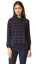 Steven Alan Composition Shirt Navy Red