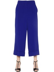 Sportmax Wide Leg Stretch Crepe Trousers