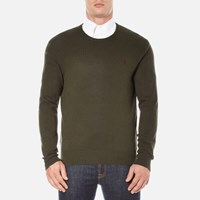 Polo Ralph Lauren Men's Crew Neck Merino Knitted Jumper Dark Loden Green