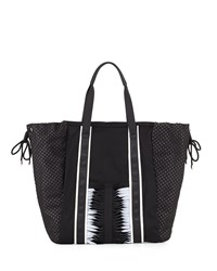 Gx By Gwen Stefani Ida Neoprene Tote Bag Black White