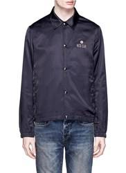 Paul Smith Island Embroidery Sateen Jacket Blue