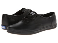 Keds Champion Leather Cvo Black Leather Women's Lace Up Casual Shoes