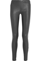 Iris And Ink London Stretch Leather Leggings Black