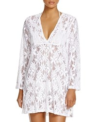 J. Valdi Daisy Lace Tunic Swim Cover Up White