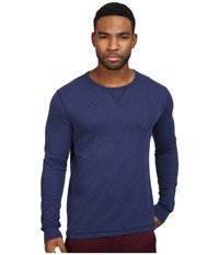 Original Penguin Long Sleeve Reversible Crew Medieval Blue Men's Long Sleeve Pullover Navy