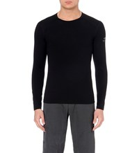 Icebreaker Oasis 200 Long Sleeved Crew Neck Top 001 Black