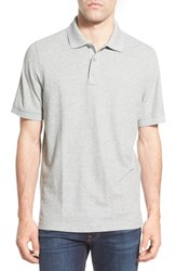 Nordstrom Men's Big And Tall Men's Shop 'Classic' Regular Fit Pique Polo Grey Medium Heather