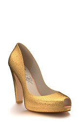 Women's Shoes Of Prey Glitter Platform Pump 4 1 2' Heel
