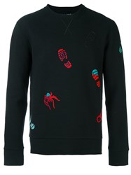 Lanvin Embroidered Spider Footprint Sweatshirt Black