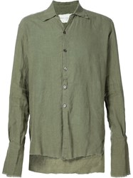 Greg Lauren Raw Edge Shirt Green