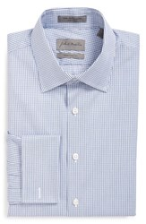 Men's Big And Tall John W. Nordstrom Traditional Fit Check Dress Shirt Blue Estate
