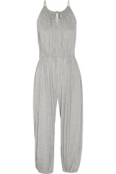Norma Kamali Stretch Jersey Jumpsuit Gray