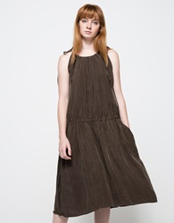 Objects Without Meaning High Neck Dress In Olive