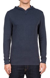 Volcom Men's 'Waiters' Waffle Knit Thermal Hoodie Blue