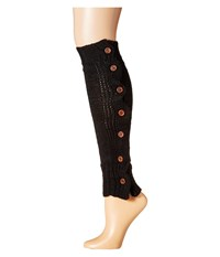 Steve Madden Button Side Leg Warmer Black Women's Knee High Socks Shoes