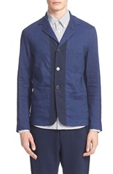 Men's Umit Benan Stripe Linen And Cotton Jacket
