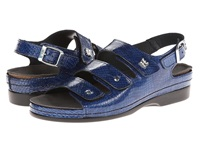 Helle Comfort Tulin Navy Cobra Print Women's Sandals