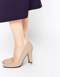 London Rebel Point Heeled Shoes Taupepatent