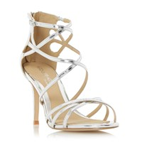 Head Over Heels Minita Metallic Strap High Heel Sandals Silver