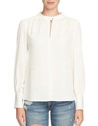 1.State Solid Long Sleeve Top Chalk