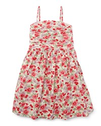 Ralph Lauren Childrenswear Sleeveless Floral Button Back Sundress Pink Size 5 6X Girl's Size 5