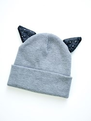 Relish Beanie With Two Ears Grey