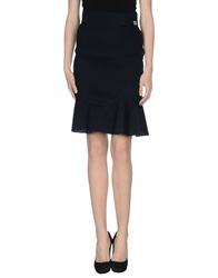 Douuod Knee Length Skirts Dark Blue